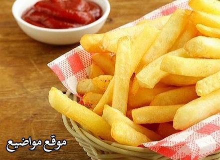 طريقة قلي البطاطس المقرمشة بدون زيت
