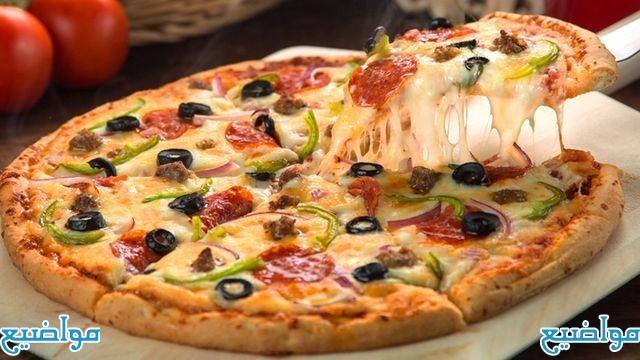 طريقة عمل البيتزا العادية والسريعة في البيت