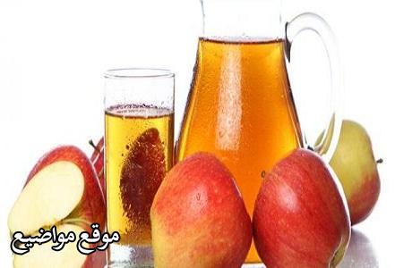 طريقة عمل عصير التفاح الفريش والطبيعي
