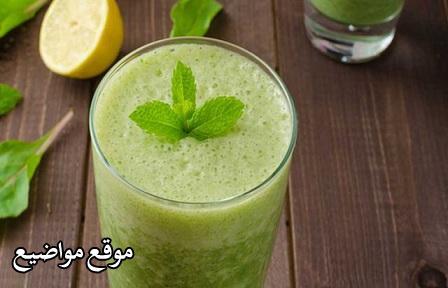 طريقة عمل عصير الليمون بالنعناع واللبن