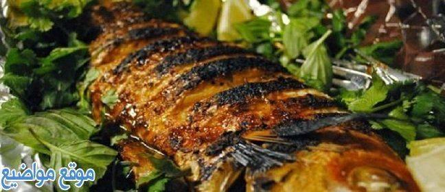 طريقة شوي السمك بالردة والزيت في البيت