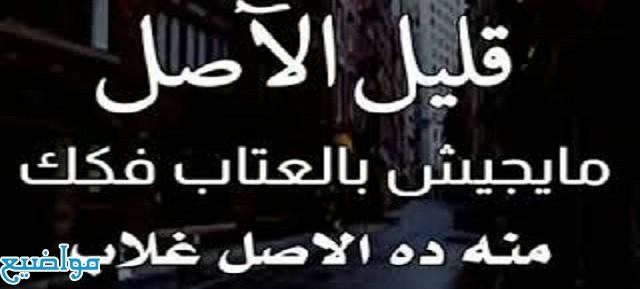أمثال شعبية عن قليل الأصل مصرية