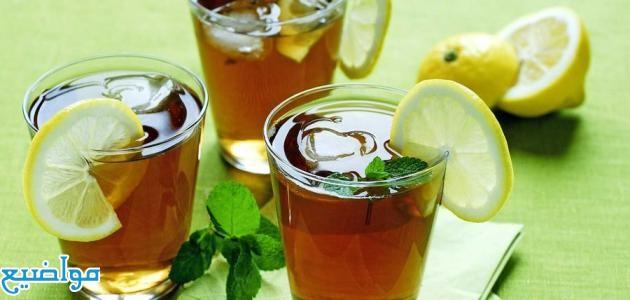 فوائد الشاي الاخضر بالليمون للبشرة والتخسيس