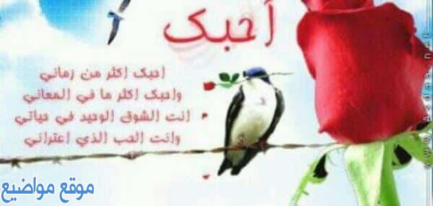 كلام رومانسي لحبيبتي مصري للحبيب والحبيبة